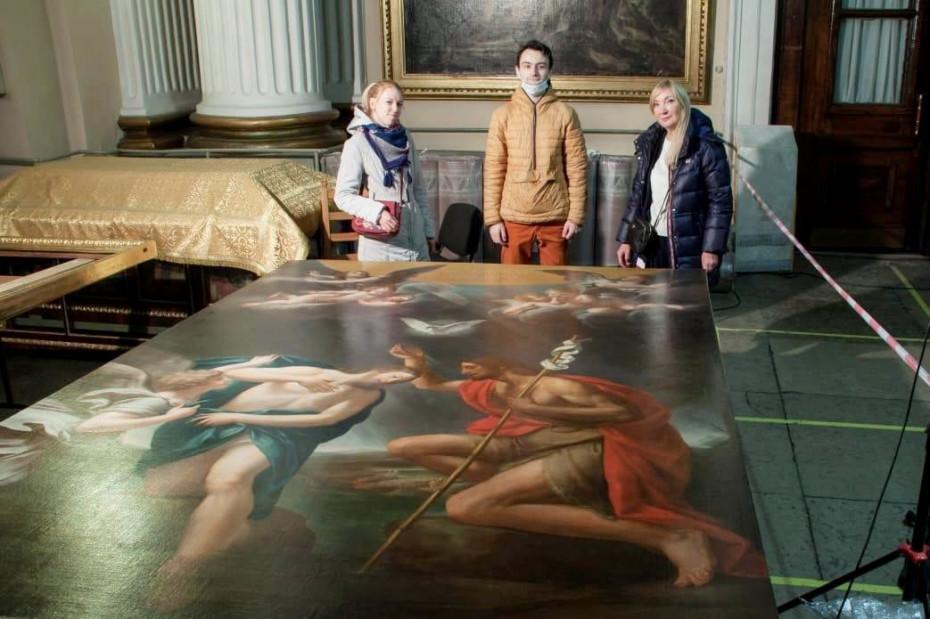К празднованию 800-летия Александра Невского завершена реставрация картины для Александро-Невской лавры
