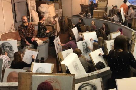 В Академии Штиглица состоялся XIII Международный конкурс академического рисунка