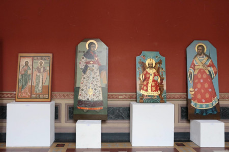 На выставке «Иконостас» представлены работы, выполненные студентами для музея «Витославлицы»