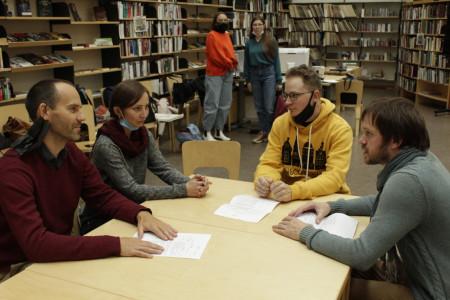 Круглый стол в Библиотеке Алвара Аалто