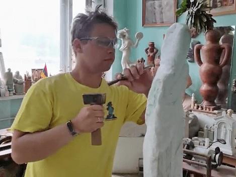 Летняя практика студентов кафедры монументально-декоративной скульптуры