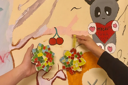 Charity maser class in mosaic