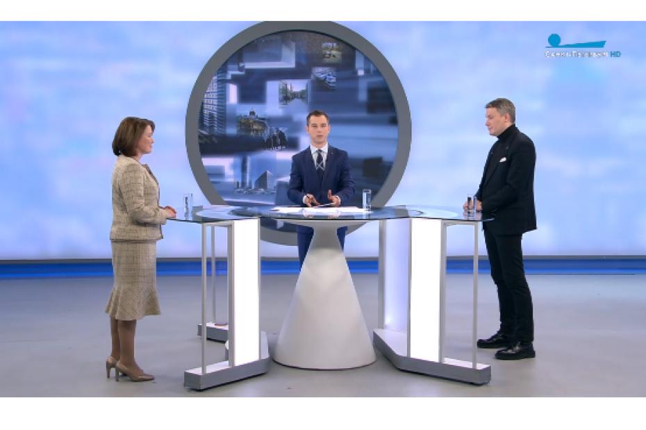 «Петербург. Город решений»: большое интервью на Телеканале «Санкт-Петербург»